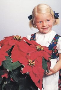 Bilde av Annette Hegg, foredler Thormod Heggs datter, og planten hun gav navn til. Foto: Sønstrød Fotografene