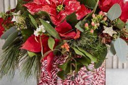 Lag en julevase med drops og julestjerne