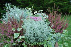 Høstkrukke med dekorative variasjoner av farger og former