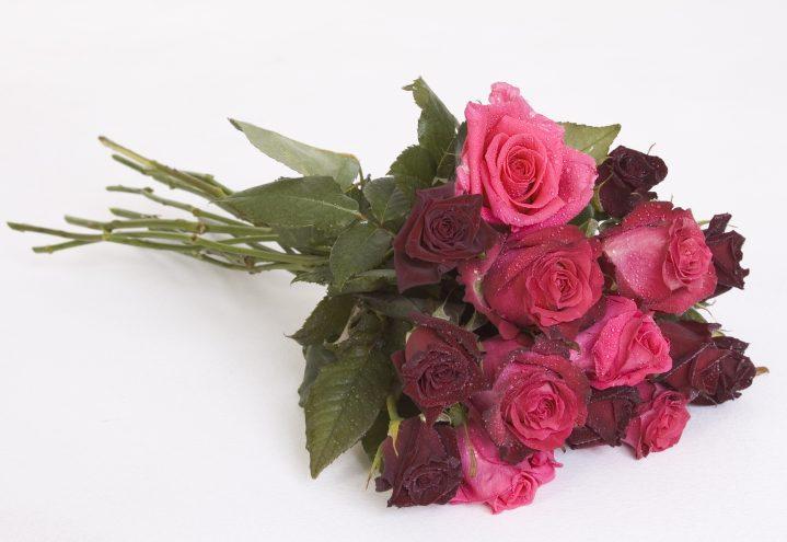 Vakker rosebukett