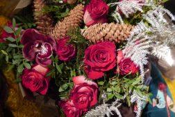 Juledekorasjon med roser