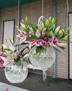 Liljer i hengende vaser
