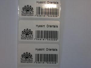 Norskmerke og strekkode