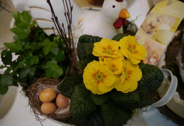 Påskedekorasjon med primula
