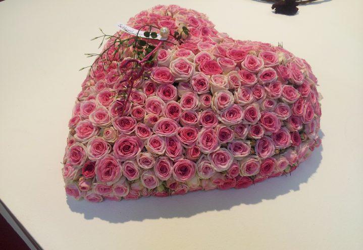 Rosa hjerte til valentine