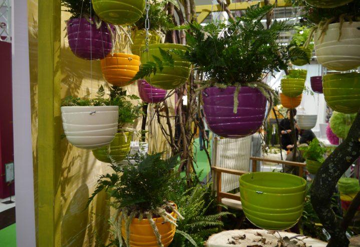 Trend, hengende hager i mange farger