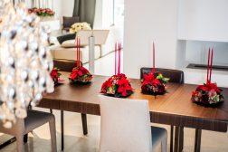 Julebord med julestjerner