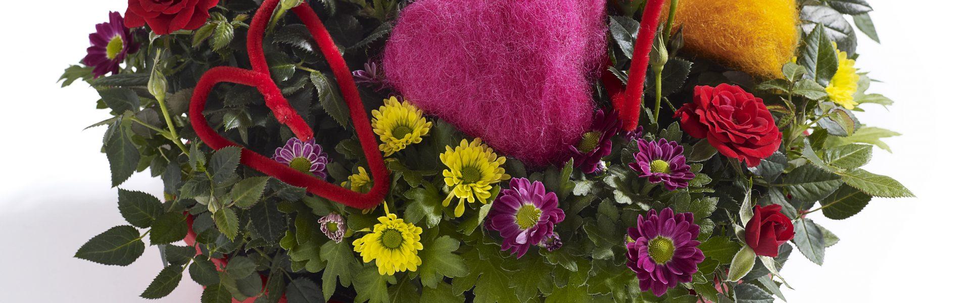 Gled mamma med blomster