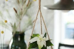 DIY – Hengende blomsterpendel med julestjerne