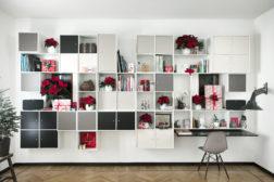 Stueveggen full av hyller? Et flott sted å vise frem blomster og gaver