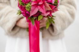 2016 Julestjerne brudebukett