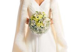 2016 Julestjerne brudebukett hvite stjerner