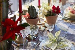 Dekk julebordet med meksikanske julestjerner