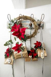 Forenklet adventskalender, med en pakke for hver uke i advent