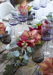 Festlig bord til julemiddagen