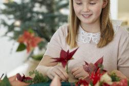 Fine juledekorasjoner kan du lage selv; julestjernen er praktfull også som dekorasjonsblomst