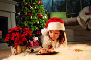 Å skrive ønskeliste til jul