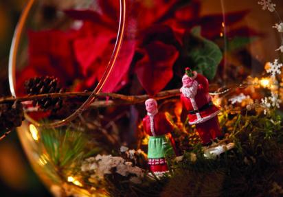 Glitrende juledekorasjoner