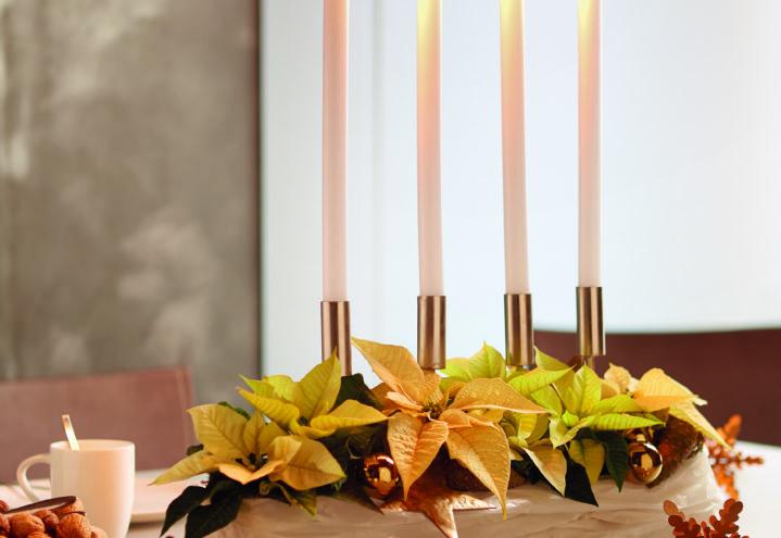 Adventskrans i pastell, DIY