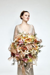 Brudebukett til vinterbryllup